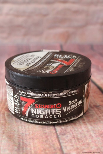 Tabak 7 Nights Tobacco Black Sour Valentine 200 g